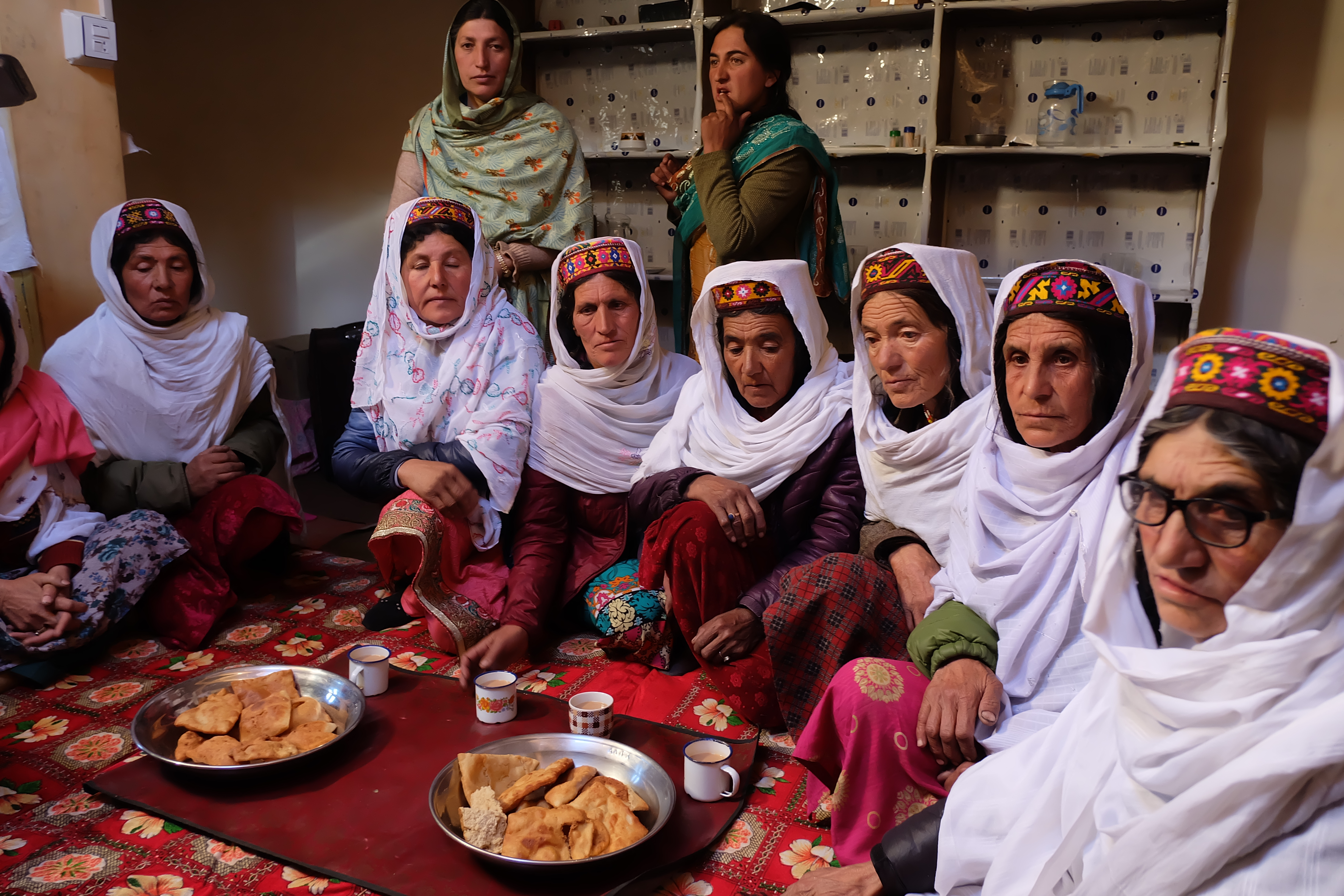Hunza Women on the occasion of a local wedding. Natural splendors of Pakistan