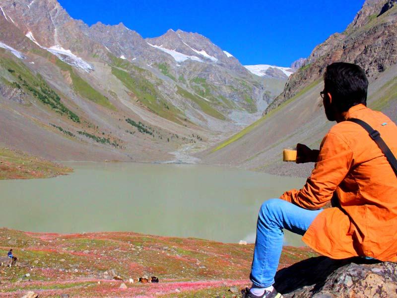 Pari lake at Naltar valley. Hunza and Naltary valley Tour